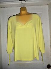 Oscar de la Renta Pale Yellow Polyester Blend Blouse sz. XL EUC!!