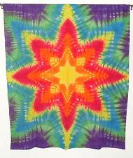 Hippie Tie dye dyed tapestry sheet curtain wall hanging 46.5*52.5 Mandala star