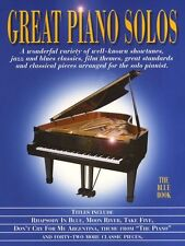 Great Piano Solos The Blue Book Sheet Jazz Music *NEW*