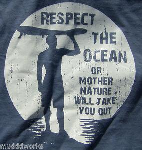 Surf board T-shirt Coastal Nomad  Caribbean Hobo  ocean beach  Mother Nature