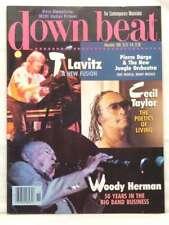 DOWN BEAT MAGAZINE T Lavitz Cecil Taylor Woody Herman