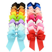 3.5 Inch  Cheer Bow Grosgrain Ribbons Alligator Hair Clip Baby Girls Boutique
