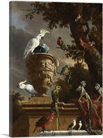 ARTCANVAS The Menagerie 1690 Canvas Art Print by Melchior d-Hondecoeter