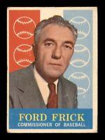 1959 Topps Set Break #1 Ford Frick VG *OBGcards*
