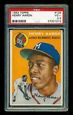 1954 Topps #128 HANK AARON PSA 3.5 ROOKIE CARD Well Centered & Looks like a 4