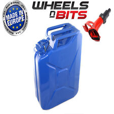 HIGH QUALITY METAL POWER COATED INSIDE & OUT BLUE JERRY CAN 20L LITRE WITH SPOU