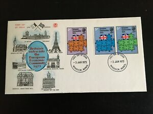 GB  1973 European Community FDC - Stuart Brand, Windsor FDI unaddressed(GB796)