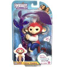 Fingerlings Glitter Monkey Liberty Red White Blue WowWee Fingerling