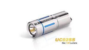 FENIX UC02SS LED Schlüsselbundleuchte Edelstahl & Blau Version