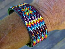 "NEW PATTERN, Handmade Beaded Bracelet ""OVER 2000 Beads"" Navajo Indian Yazzie"