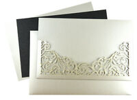 50Pcs Elegant Bride & Groom Laser Cut Wedding Invitations Card with Envelope