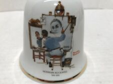 1979 The Danbury Mint Triple Self Portrait By Norman Rockwell Ceramic Bell