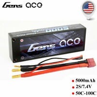 Gens ace 5000mAh 7.4V 50C-100C 2S Lipo Battery For Losi Traxxas Venom Car Truck