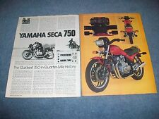 "1981 Yamaha Seca 750 Vintage Motorcycle Info Article ""The Quickest 750..."""