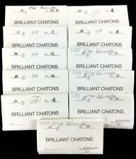 (11) Packets Bermuda Blue Crystal Chatons Lot 1147