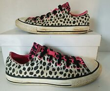 Girls SLIP ON CONVERSE 641200F Animal Print No Time To Lace Sneakers Junior 3