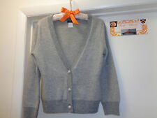 J. CREW Womens Bling Button Cardigan Sweater Bolero| Size Small| Color Grey