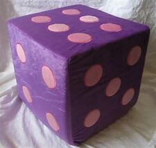 ~ Funky PLUSH PADDED CUBE DICE SEAT / CHAIR