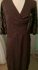 New listing Attractive Ladies 1930S Dress With Velvet Sleeves