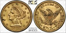 1902 $2.50 Gold Liberty Head Quarter Eagle Coin PCGS MS63 Gold Label Secure Hold