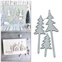 3D Christmas Tree DIY Metal Cutting Dies Stencils Chrismas Hot Scrapbooking P3X0