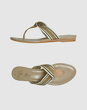 MADE IN ITALY YOOX ROSE A POIS Beige Leather Women's Sandals Flip Flops 41 10