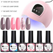 UR SUGAR 6Bottles Nail UV Gel Polish 54W Nail LED Lamp Dryer Gel Nail Polish Kit