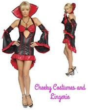 Vampire Mistress Halloween Dracula Costume Devil Size 10-12 Red Black