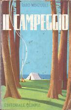 1958 – VANZUGLI, IL CAMPEGGIO – TURISMO CAMPING TENDA ROULOTTE CICLOTURISMO