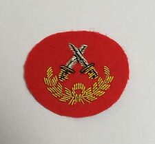 Senior Brecon Red Mess Dress Sleeve Badge,  Army, Military, Cross Daggers Wreath