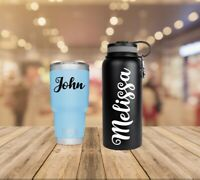 Personalized Cursive Name Vinyl Decal Sticker | Script, For Yeti Tumbler cup