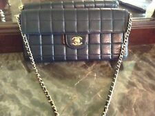 "100% authentic chanel small black lamb skin shouder bag ""excellent"""
