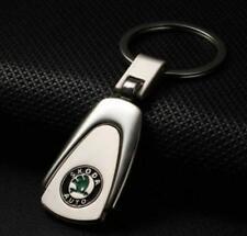 For Skoda Car Logo Titanium Keyring Keychain Key Chain Ring Gift With Box