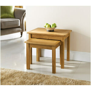 The House Unlimited Oak Nest of 2 Tables