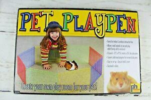 """Prevue Small Animal Pet Playpen 8 Panels 36"""" Diameter Indoor  Outdoor New Unused"""