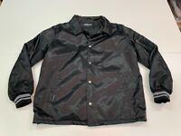 Vintage Members Only Men's Black Satin Jacket - Large