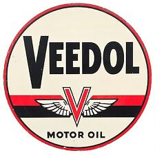 Veedol Motor Oil Gas High Quality Square Metal Magnet 4 x 4 inches 9408