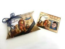 Bomboniere compleanno magnete personalizzato con foto re leone battesimo