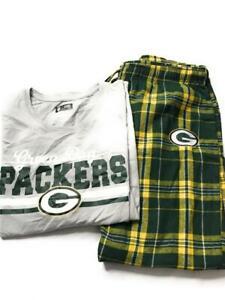 NFL Women's Green Day Packers Flannel Pajama Sleepwear Set, Multicolor, Size XL