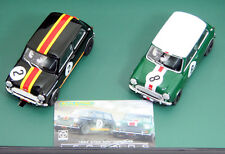 Scalextric C3586A 1964 ATCC Mini Coopers, 2-car boxed set, 1/32 scale slot car