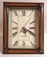 Quartz Tabletop Wooden Framed Mantel Clock Home Decor