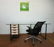 Modern Glass Computer Desk Home Office Work Station FREE MANCHESTER DELIVERY