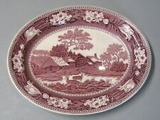 "Wedgwood Fallow Deer Plum Purple 14 1/2"" Oval Serving Platter"