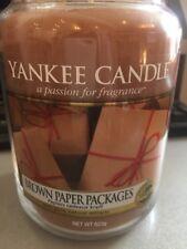 YANKEE Candle pacchetti di Carta Marrone 📦 GRANDE Candela