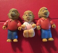 •• Vintage The Berenstain Bears Brother Toy Figure 1986 Sister Lot 3