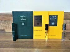 3 x Acqua Di Parma Colonia Pura, Club & Assoluta EDC Unisex Sample Vial Spray