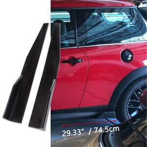 For Mini S 745mm Side Skirts Rocker Splitters Diffuser Winglet Wings Glossy ABS