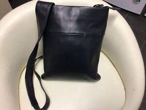 Ladies Small Black Leather Radley Messenger Bag
