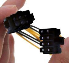 """PCI EXPRESS PCIE 6 pin a 8 pin scheda grafica Cavo adattatore di alimentazione 18cm 7.8"""" H77A"""