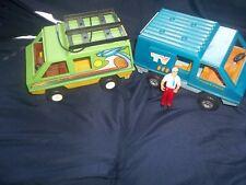 Vintage Fisher Price Vans- Mobile TV & Daredevil Van- Nice Condition- Bin I